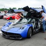 Pagani Huayra with all its doors open