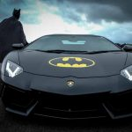 Batman and his Lamborghini at The Supercar Event
