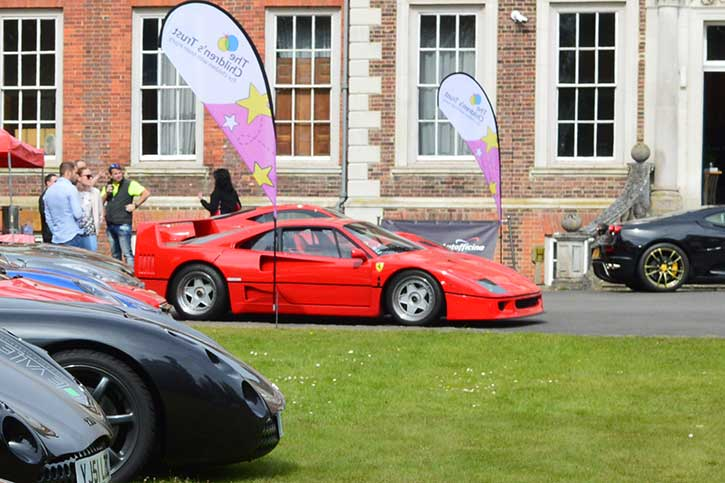 Ferrari F40 visits The Children's Trust
