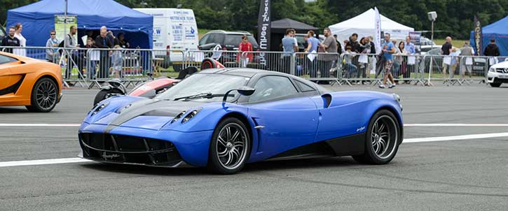 The Pagani Huayra, an example of a hypercar.